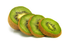 Sliced fresh kiwi Stock Photos