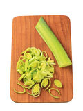 Sliced fresh leek Stock Image