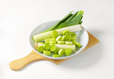 Sliced fresh leek Royalty Free Stock Photos