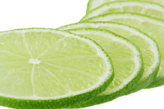 Sliced fresh lemon lime Royalty Free Stock Photo
