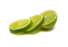 Sliced Fresh Lime Royalty Free Stock Photo