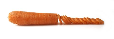 Sliced fresh organic carrot Stock Image
