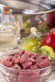 Sliced fresh pork Stock Photography