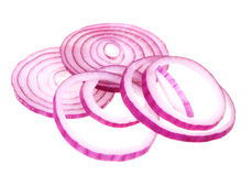 Sliced fresh red onion royalty free stock photos