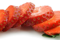 Sliced fresh strawberry Stock Images