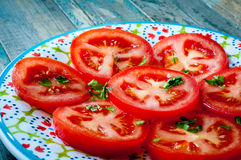 Sliced fresh tomatoes Royalty Free Stock Photography