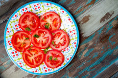 Sliced fresh tomatoes Royalty Free Stock Photo