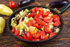 Sliced fresh vegetables Stock Image