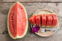 Sliced Fresh water melons Royalty Free Stock Images