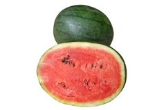 Sliced of fresh watermelon stock photography