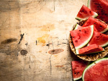 Sliced fresh watermelon. Royalty Free Stock Photography
