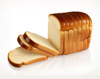 Sliced fresh wheat bread stock illustration
