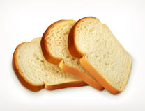 Sliced fresh wheat bread royalty free illustration