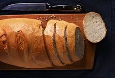 Sliced freshly baked baguette Stock Photo