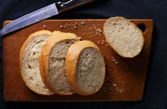 Sliced freshly baked baguette Royalty Free Stock Photos