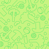 Sliced frozen vegetables seamless pattern Royalty Free Stock Photos