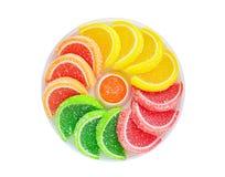 Sliced fruit jelly Stock Image