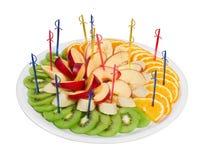 Sliced fruit platter Stock Image