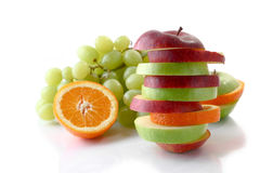 Sliced fruits Stock Photo