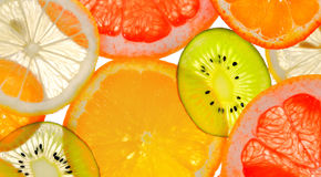 Sliced fruits Stock Image