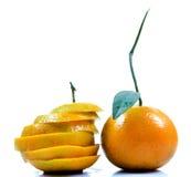 Sliced and full orange Stock Image