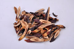 Sliced ganoderma--a traditional chinese medicine Stock Photo