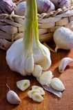 Sliced garlic Royalty Free Stock Images