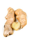 Sliced ginger root with a heart shape Stock Photo
