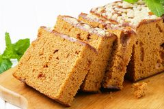 Sliced gingerbread loaf Stock Images
