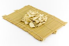Sliced ginseng. Traditional Chinese Medicine - Sliced ginseng Royalty Free Stock Images