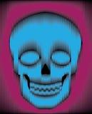 Sliced gradient skull Royalty Free Stock Image