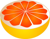 Sliced grapefruit Royalty Free Stock Image