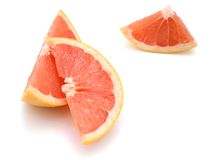 Sliced grapefruit Royalty Free Stock Image