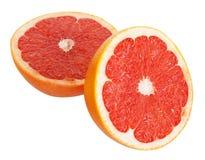 Sliced grapefruit isolated Royalty Free Stock Image