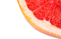 Sliced grapefruit. Sliced piece of grapefruit closeup Stock Images