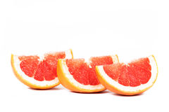 Sliced grapefruit stock image