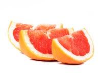 Sliced grapefruit stock photos