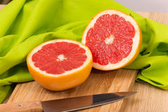 Sliced Grapefruit Stock Image
