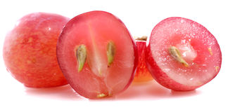 Sliced grapes Stock Photos