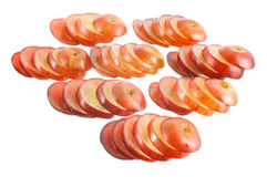 Sliced grapes Stock Images