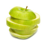 Sliced green apple Stock Photography