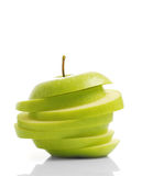 Sliced Green Apple Royalty Free Stock Photos