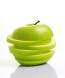 Sliced Green Apple Stock Photo