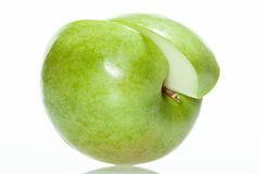 Sliced green apple Stock Image