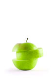Sliced green apple Royalty Free Stock Photography