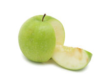 Sliced green apple, isolated Stock Photography