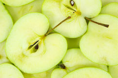 Sliced green apples Royalty Free Stock Photo