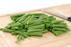 Sliced green beans Royalty Free Stock Photography
