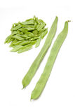 Sliced green beans Royalty Free Stock Images
