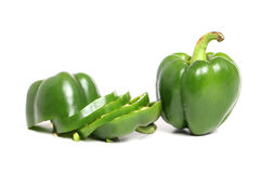 Sliced Green bell pepper Stock Images